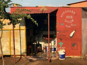 Hair salon in a township