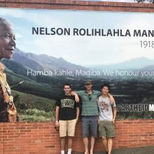 Clarence, Paul and Kurt at Mandela Museum Entrance